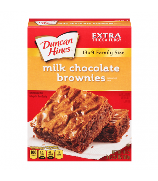 Duncan Hines Family Size Milk Chocolate Brownies Mix 18.2oz (515g) Baking & Cooking Duncan Hines
