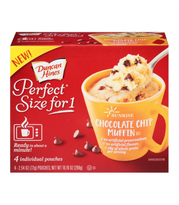 Duncan Hines Perfect Size for One - Chocolate Chip Muffin Mix - 10.2oz