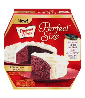 Clearance Special - Duncan Hines Perfect Size Lovers Red Velvet Dream 9.4oz ** January 2017 ** Clearance Zone