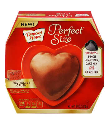 Duncan Hines - Perfect Size Red Velvet Crush - Heart-Shaped Tin 8.6oz (245g) Food and Groceries Duncan Hines