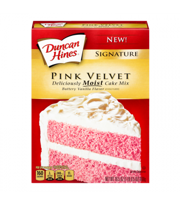 Duncan Hines Pink Velvet Cake Mix 16.5oz (468g) Baking & Cooking Duncan Hines