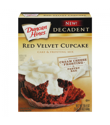 Clearance Special - Duncan Hines Decadent Red Velvet Cupcake Mix 19.4oz ** December 2016 ** Clearance Zone
