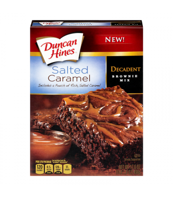 Duncan Hines Decadent Salted Caramel Brownie Mix 17.6oz (498g)