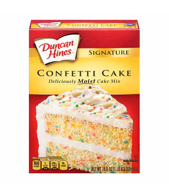 Duncan Hines Signature Confetti Cake Mix 16.5oz (468g) Baking & Cooking Duncan Hines