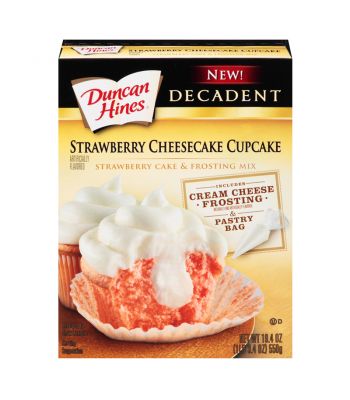 Duncan Hines Decadent Strawberry Cheesecake Cupcake Mix 19.4oz (550g) Baking & Cooking Duncan Hines