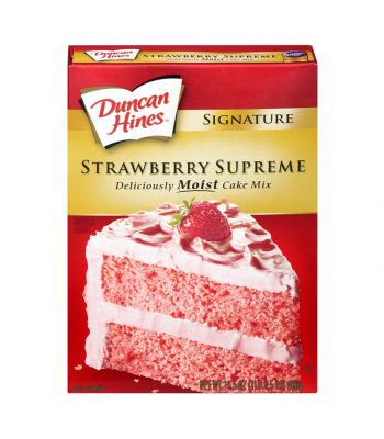 Duncan Hines Signature Strawberry Supreme Cake Mix 468g  Baking & Cooking Duncan Hines