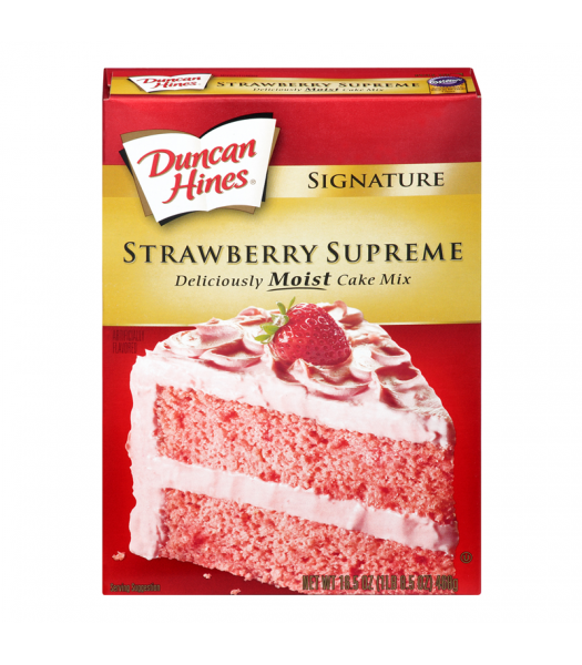 Duncan Hines Signature Strawberry Supreme Cake Mix 15.25oz (432g) Food and Groceries Duncan Hines
