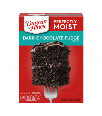 Duncan Hines Perfectly Moist Dark Chocolate Fudge Cake Mix - 15.25oz (432g) Food and Groceries Duncan Hines