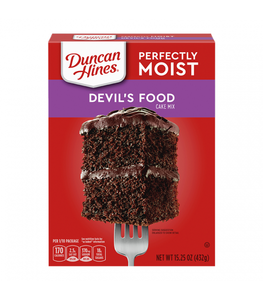 Duncan Hines Perfectly Moist Devil's Food Cake Mix - 15.25oz (432g) Food and Groceries Duncan Hines