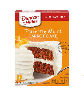 Duncan Hines Signature Perfectly Moist Carrot Cake Mix - 15.25oz (432g) Food and Groceries Duncan Hines