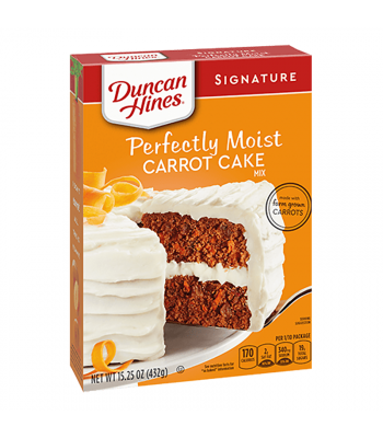 Duncan Hines Signature Perfectly Moist Carrot Cake Mix - 15.25oz (432g) Food and Groceries