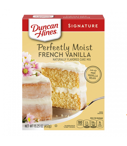 Duncan Hines Signature Perfectly Moist French Vanilla Cake Mix - 15.25oz (432g) Food and Groceries Duncan Hines