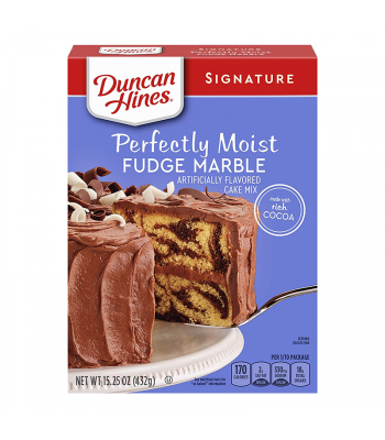 Duncan Hines Signature Perfectly Moist Fudge Marble Cake Mix - 15.25oz (432g) Food and Groceries Duncan Hines