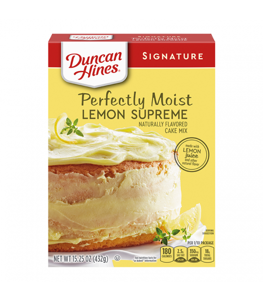 Duncan Hines Signature Perfectly Moist Lemon Supreme Cake Mix - 15.25oz (432g) Food and Groceries Duncan Hines