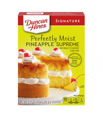 Duncan Hines Signature Perfectly Moist Pineapple Supreme Cake Mix - 15.25oz (432g) Food and Groceries Duncan Hines