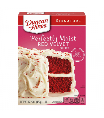 Duncan Hines Signature Perfectly Moist Red Velvet Cake Mix - 15.25oz (432g) Food and Groceries Duncan Hines