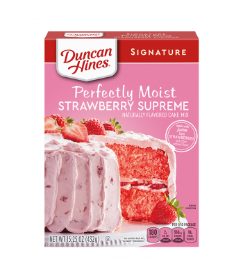 Duncan Hines Signature Perfectly Moist Strawberry Supreme Cake Mix - 15.25oz (432g) Food and Groceries Duncan Hines