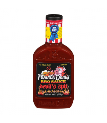 Famous Dave's Devil's Spit BBQ Sauce - 19oz (538g) Food and Groceries