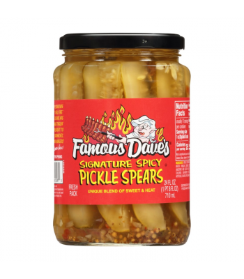 Famous Dave's Signature Spicy Pickle Spears - 24oz (710ml) Food and Groceries