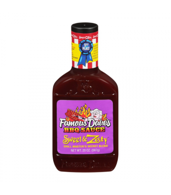 Famous Dave's Sweet & Zesty BBQ Sauce - 20oz (567g) Food and Groceries
