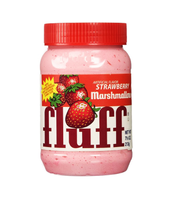 Fluff Marshmallow Strawberry 212g Syrups & Toppings Fluff