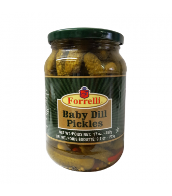 Forrelli Baby Dill Pickles 17oz (482g) Pickles