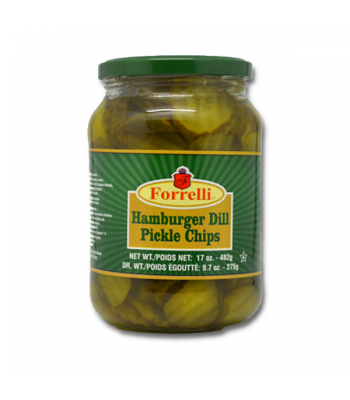 Forrelli Hamburger Dill Pickle Chips 17oz (482g)