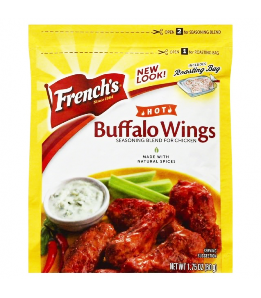 French's Hot Buffalo Wings Seasoning Blend For Chicken 1.75oz (50g) Spices & Seasonings French's