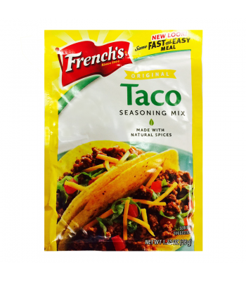 French's Original Taco Seasoning Mix Sachet 1.25oz  Spices & Seasonings French's