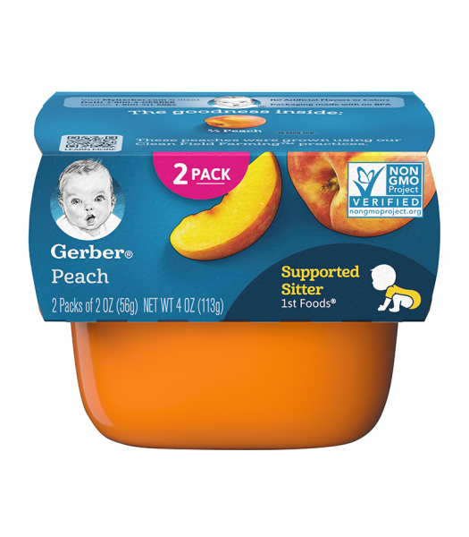 Gerber 1st Foods Peach Puree - 2oz (56g) 2pk Food and Groceries