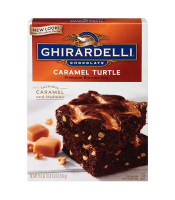 Ghirardelli Caramel Turtle Brownie Mix 18.5oz (524g) Baking & Cooking