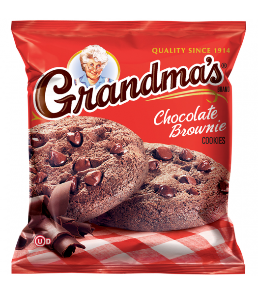 Grandmas - Chocolate Brownie Cookies - 2.5oz (71g) Cookies and Cakes Grandma's Cookies