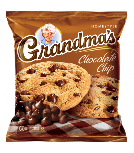 Grandmas - Chocolate Chip Cookies - 2.5oz (71g) Cookies and Cakes Grandma's Cookies