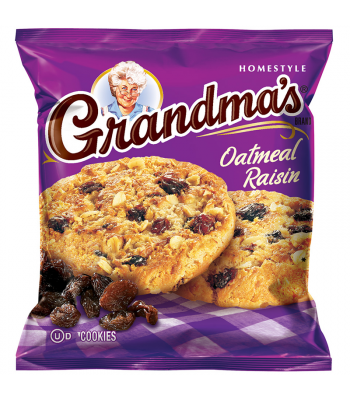 Grandmas - Oatmeal & Raisin Cookies - 2.5oz (71g) Cookies and Cakes Grandma's Cookies