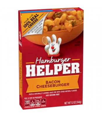 Hamburger Helper Bacon Cheeseburger 5.1oz (144g) Food and Groceries Hamburger Helper