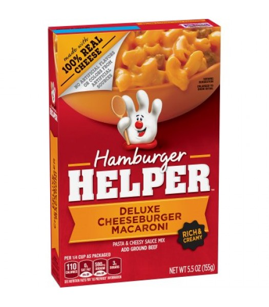 Hamburger Helper Deluxe Cheeseburger Macaroni 5.5oz (155g) Food and Groceries Hamburger Helper