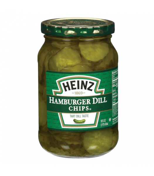 Heinz Hamburger Dill Chips 16fl.oz (473ml) Pickles Heinz