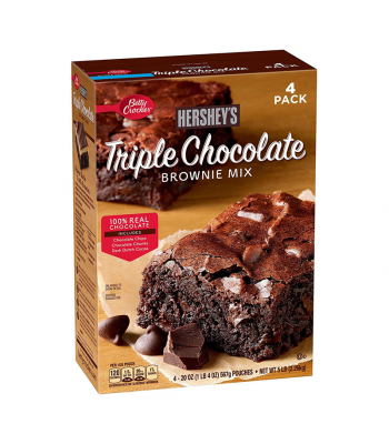Hershey's Triple Chocolate Brownie Mix - 20oz (567g) - 4pk - SINGLE BOX Food and Groceries Hershey's