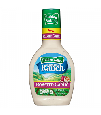 Hidden Valley Roasted Garlic Ranch Dressing 16fl.oz (473ml) Food and Groceries