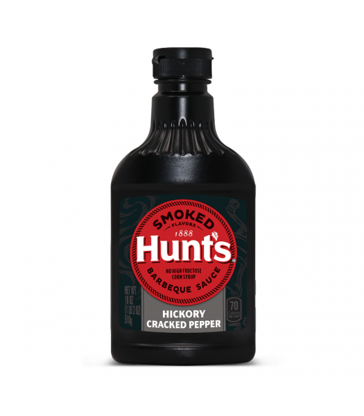 Clearance Special - Hunt's Hickory Cracked Black Pepper BBQ Sauce 18oz (510g) **Best Before: May/June 21** Clearance Zone