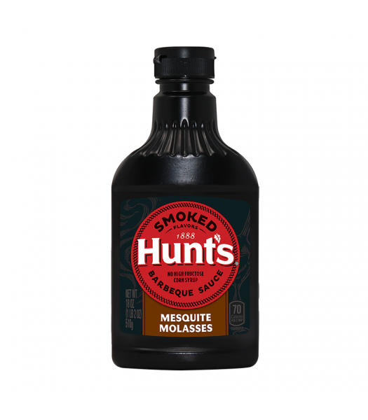 Clearance Special - Hunt's Smoked Mesquite Molasses Barbecue Sauce - 18oz (510g) **Best Before: 29 May 21** Clearance Zone