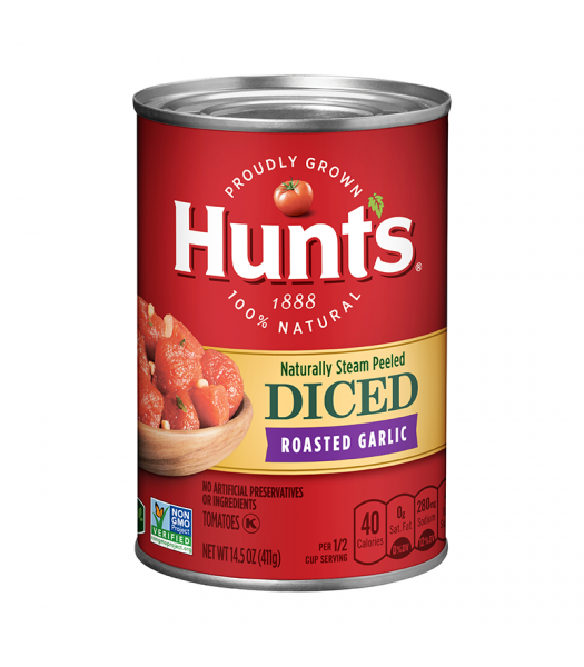 Hunt's Diced Tomatoes with Roasted Garlic - 14.5oz (411g) Food and Groceries Hunt's