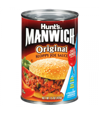 Hunts Manwich Original Sloppy Joe Sauce 15.5oz (440g) Tinned Groceries Hunt's