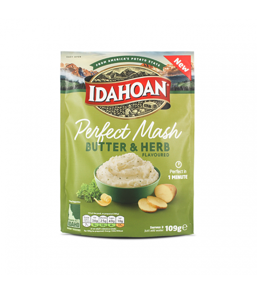 Idahoan Perfect Mash - Butter & Herb (109g) Food and Groceries