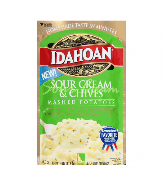 Idahoan Sour Cream and Chives Mashed Potatoes - 4oz (113.4g) Food and Groceries