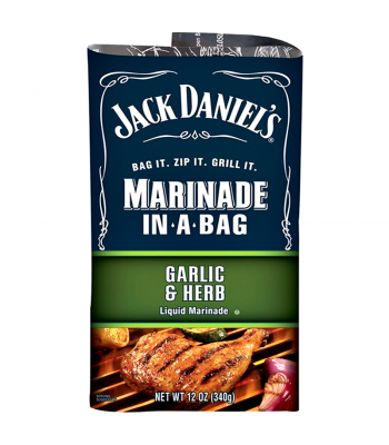 Jack Daniel's EZ Marinader (Liquid Marinader in a Bag) - Garlic & Herb - 12oz (340g) Food and Groceries Jack Daniel's