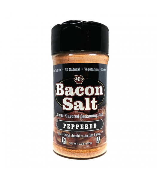 J&D's Peppered Bacon Salt - 2oz (57g) Food and Groceries