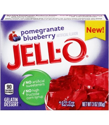 Jell-O Pomegranate Blueberry Gelatin 3oz (85g) Jelly & Puddings