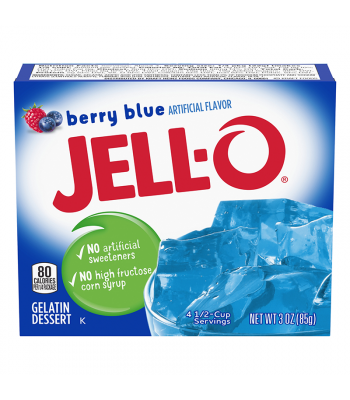 Jell-O - Berry Blue Gelatin Dessert - 3oz (85g) Food and Groceries Jell-O