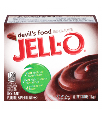 Jell-O - Devil's Food Instant Pudding 3.8oz (107g) Food and Groceries Jell-O